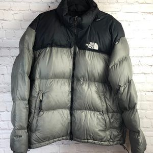 The north face 700 series gray/black puffer jacket